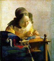 Jan Vermeer painting, the lacemaker.