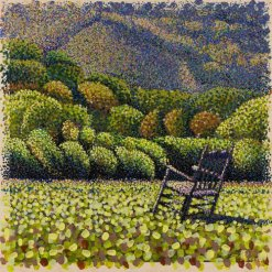 Acrylic pointillism painting, for windows and daydreaming