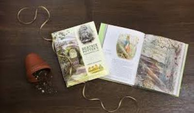 Image of book on artist and writer Beatrix Potter, wonderful beach read for artists who love gardening