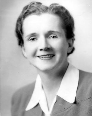 Rachel Carson's official black and white emloyee photo of The U.S. Fish and Wildlife Service, 1940