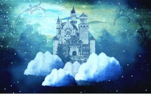 "Christy's post troll artwork: ""Castle in the Clouds,""  digital art by Christy. Used with permission of the artist."