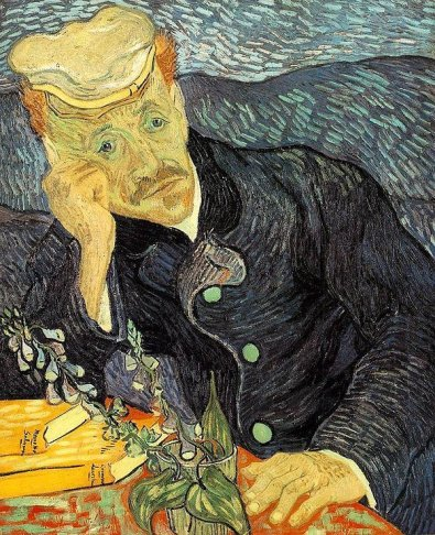 Portrait of Dr Gachet by Van Gogh, q890