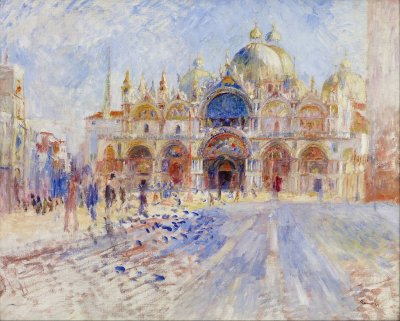 """Piazza San Marco, Venice"" by Pierre August Renoir, 1881."