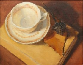 Painting of tea cup
