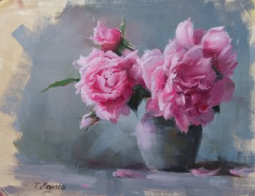 peony painting for 51 blog post topics for artists