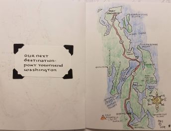 sketchbook image, map