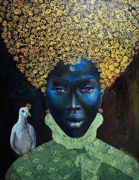 Painting of Black Queen by Madden for Help Artists of Color Post
