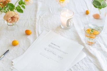a flat lay of a manuscript on a table