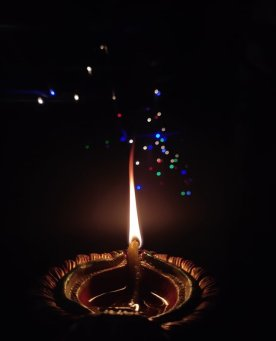 Diwali candle, for Zoom Calls for artists