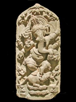 ganesha , example of what goes on writing altar for writing ritual post