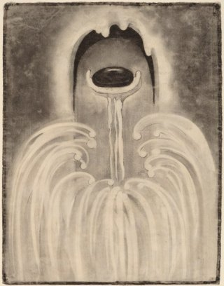 charcoal drying by O'Keeffe featuring stone-like image