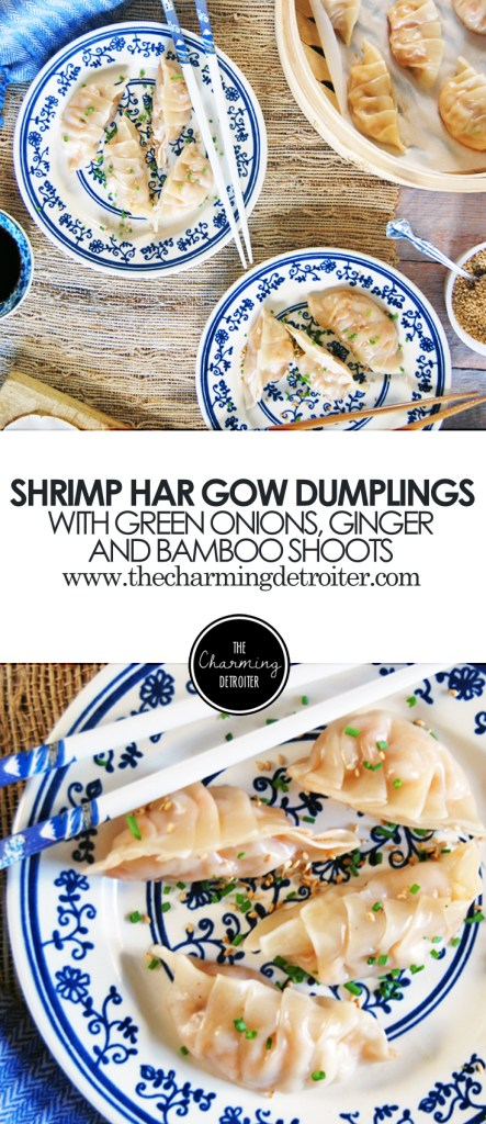 Shrimp Har Gow Dumplings: A delicious classic Asian dumpling recipe featuring shrimp, green onions, ginger, and bamboo shoots.