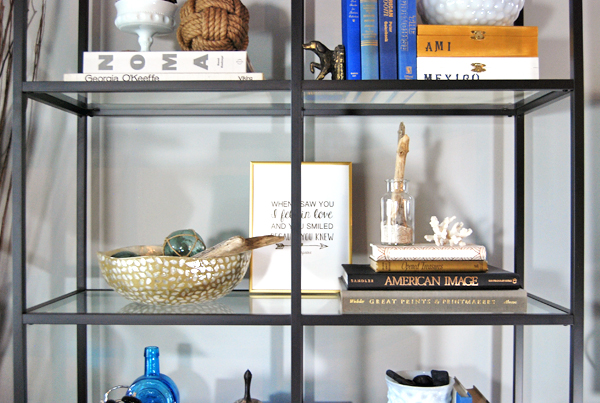 How to Style a Bookshelf | The Charming Detroiter