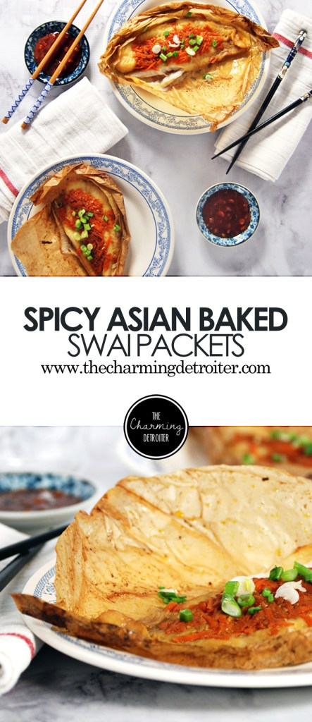 Spicy Asian Baked Swai Packets: Swai is paired with classic Asian flavors like gochujang, soy, and hoisin and baked in a parchment paper packet.