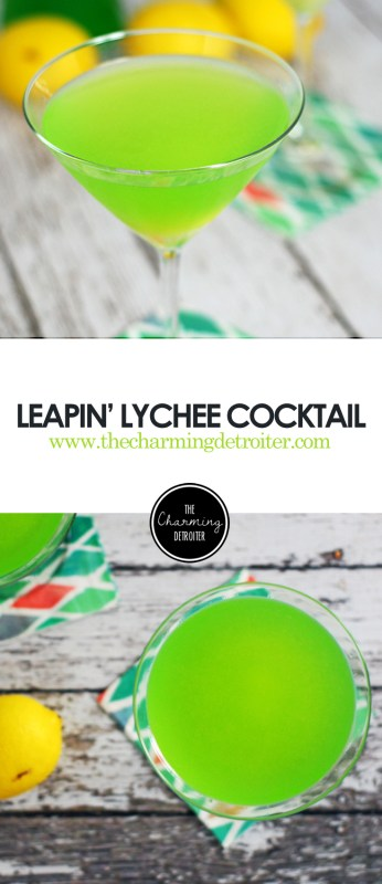 Leapin' Lychee Cocktail: Try this neon green cocktail featuring midori, lemon juice, and lychee juice in honor of Leap Day!