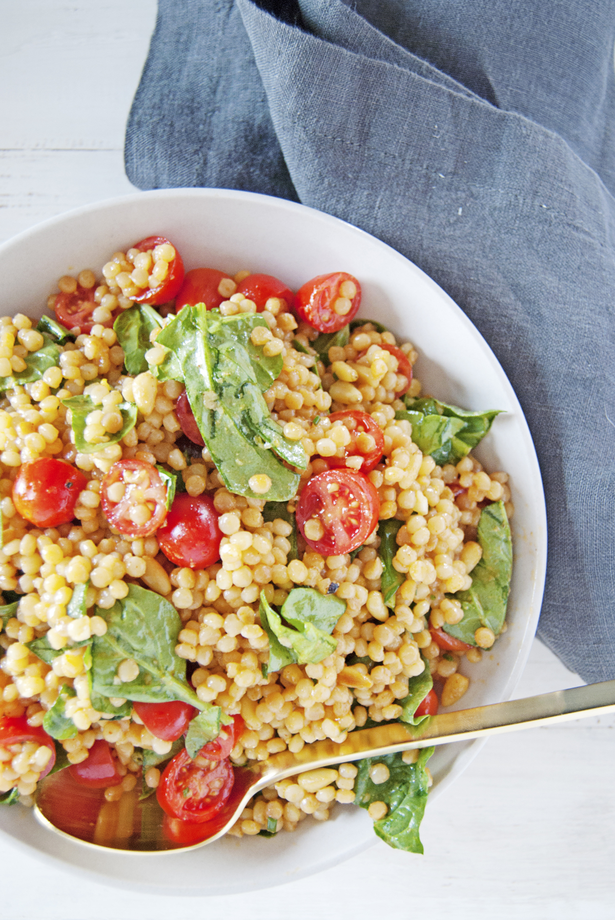 Toasted Pearl Couscous Salad With Lemon Dijon Vinaigrette The Charming Detroiter