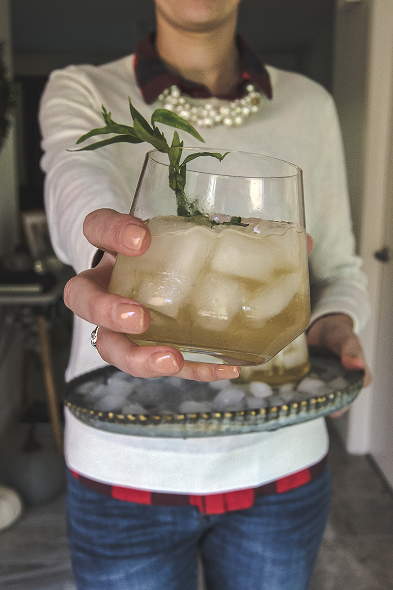 This fennel and peach sour will be your new favorite fall cocktail! Fennel vodka meets honey peach simple syrup in a refreshing drink with tarragon!