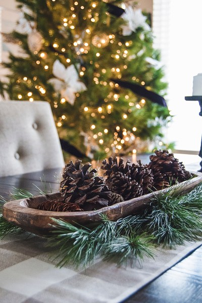 It's Christmas time at the Two Lakes Lodge! Today I'm sharing all my Christmas decor from around our home, including our two live Christmas trees!