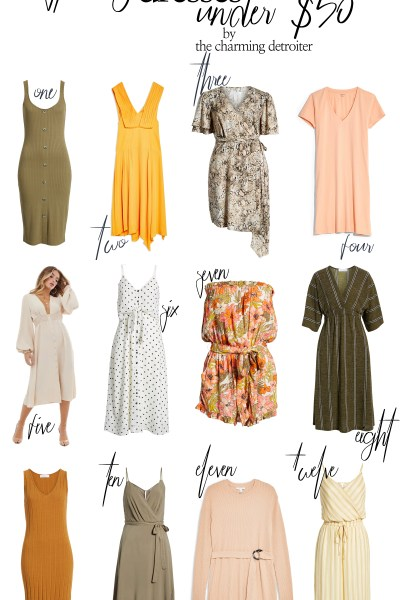 It's that season! I'm sharing all my favorite . spring dresses under $50 on the blog today, so get shopping so your wardrobe is ready for warm weather!