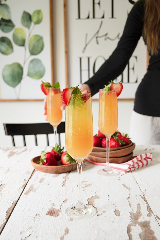 This apricot strawberry mocktail is simple and refreshing, and the perfect way to celebrate an anniversary or other special occasion while pregnant!