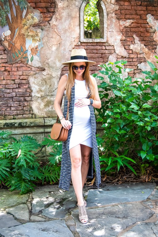 A stretchy bodycon dress is the perfect summer maternity look, and today I'm sharing three cute ways to style this bump friendly dress for the summer!