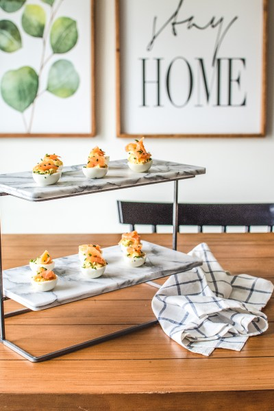 Celebrate the season with my simple spring deviled eggs! These tasty bites feature all the freshest flavors and are topped with smoked salmon!