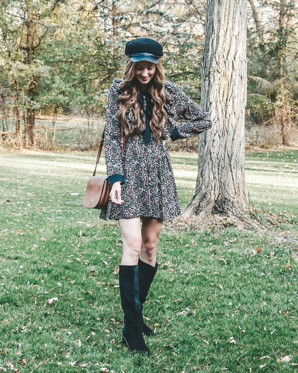 I am in love with this designer inspired dress from SHEIN, and sharing how I styled it today for the winter season on the blog!