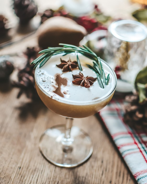 This pear whiskey sour is perfect for the winter, and my new favorite spin on an old classic cocktail!