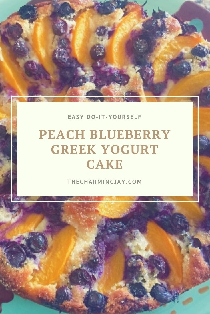 Peach Blueberry Greek Yogurt Cake