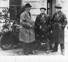 Le Corbusier, Sergei Eisenstein, and Andrei Burov in Moscow (1928)