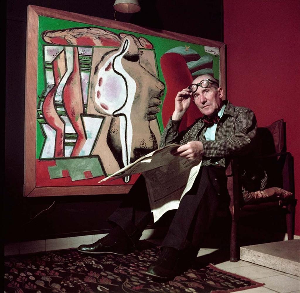 Appartement 24, rue Nungesser et Coli, Boulogne-Billancourt Salon. Peinture - Coupe de bois et coquillage (1949)