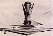 Avant-garde architect Konstantin Mel'nikov's proposed monument to Columbus, 1929.