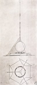 Bunin, Varentsov, and Georgii Krutikov, proposal for a monument to Christopher Columbus in Santo-Domingo (1929)
