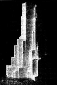 К. Малевич. Вертикальные архитектоны. Середина 20-х годов