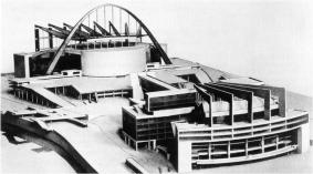 Model of Le Corbusier's proposal for the Palace of the Soviets competition (1931)