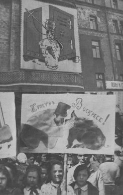 Antireligious demonstration by children, 1931