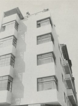 Moisei Ginzburg, Gosstrakh apartment block in Moscow (1926)
