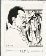 Iurii Annenkov, Portrait of Leon Trotsky with Picassos in the background (1920)