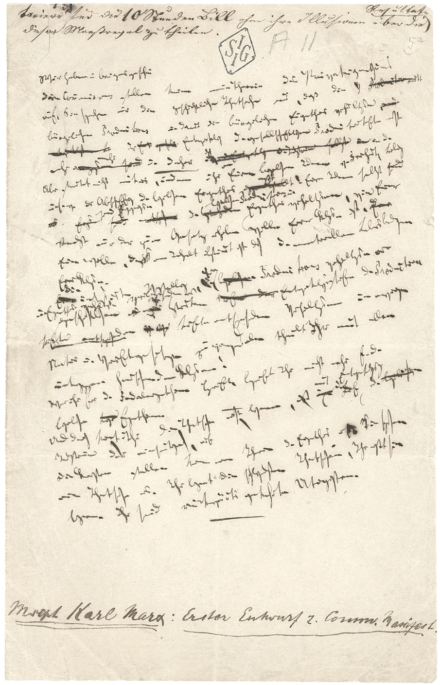 the marxist hypothesis a response to alain badiou s communist  manuscript page of the first edition of the communist manifesto 1848