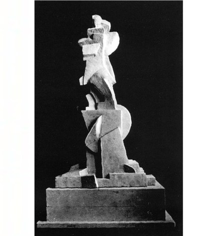 Boris Korolev's highly abstract project for a monument to Karl Marx, 1919