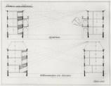 JJP Oud's plan for the Spangen municipal housing scheme, block 8