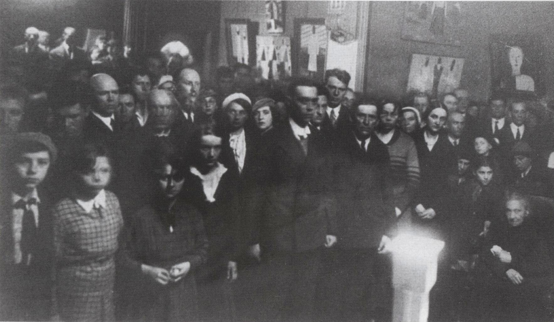 Attendants of Kazimir Malevich's funeral (1935)