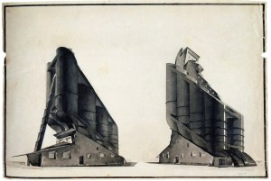G Vegman, Nikolai Ladovskii's workshop, grain elevator, revelation and expression of form, 1922