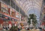 Color rendering of the interior of Paxton's 1851 Crystal Palace at Hyde Park