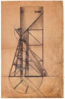 Nikolai Krassil'nikov, Nikolai Ladovskii's workshop, Water Tower, revelation and expression of form, 1921