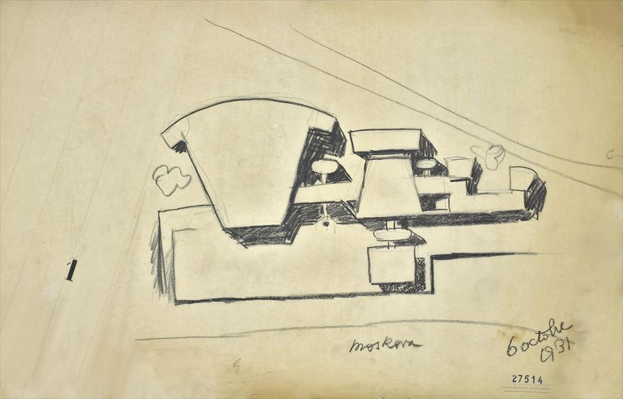 Le Corbusier, variation on the design for the Palais des Soviets (October 1931)