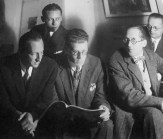 Le Corbusier in Moscow, with Andrei Burov and others(1928)
