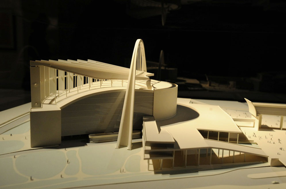 Le Corbusier, model of the Palais des Soviets in Moscow, Russia (1932)