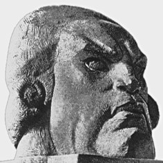 "Nikolai Andreev's ""Head of Danton""(1919) «Голова Дантона», 1919 г. Н. Андреев"