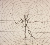 Aldous, man as a dancer. Drawing by Oskar Schlemmer.